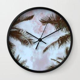 Vintage Palms Wall Clock