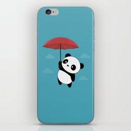 Kawaii Cute Panda With Umbrella iPhone Skin