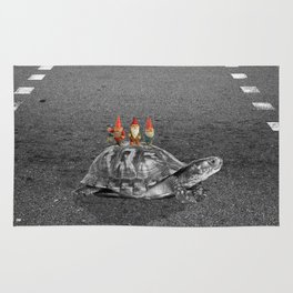 gnomes on a turtle Rug