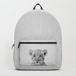 Baby Lion - Black & White Backpack