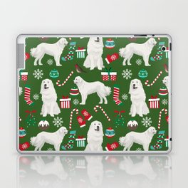 Great Pyrenees christmas festive dog gifts for the dog lover pet friendly pet portraits Laptop & iPad Skin