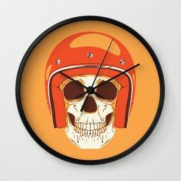 Helmet Skull Wall Clock