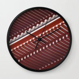 Pagoda roof pattern Wall Clock