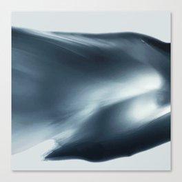 Monochromatic Ink Wave Square Canvas Print