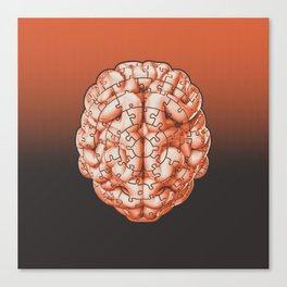 Puzzle brain GINGER / Your brain on puzzles Canvas Print