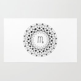 Scorpio Zodiac Mandala Rug
