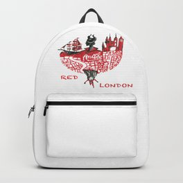 Red London Backpack