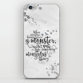 Six of Crows - Monster - White iPhone Skin