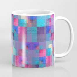Muted Brushed Metal Pastel Modern Geometric Coffee Mug