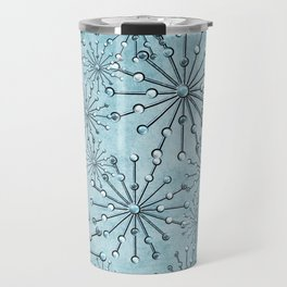 Turquise Jewel Stars Travel Mug