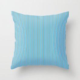 Blue Pinstripes Throw Pillow