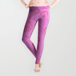 Peonies and Switchblades Leggings