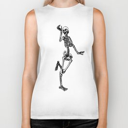 Dancing Skeleton Biker Tank