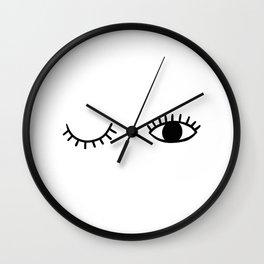 Eye wink Wall Clock