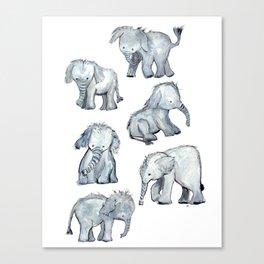 Little Elephants Canvas Print
