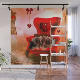 Cute little Yorkshire Terrier Wall Mural
