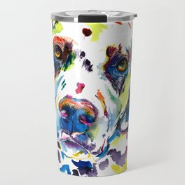 Colorful Dalmatian Illustration Travel Mug