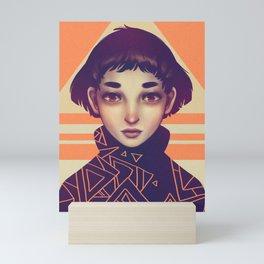 Tangerine Trigon Mini Art Print