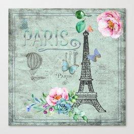 Paris - my love - France Eiffeltower Nostalgy - French Vintage Canvas Print