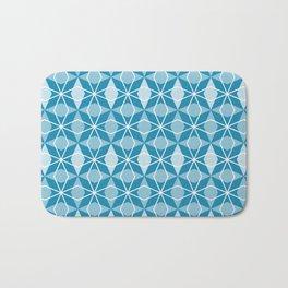 Rhombus Pattern, Pacific Blue Bath Mat