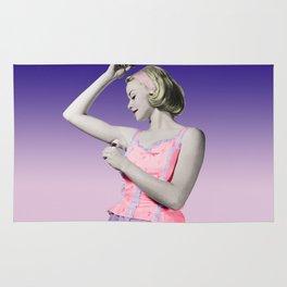 Retro Deodorant Girl Rug