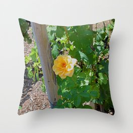 Rose In The Vine Throw Pillow