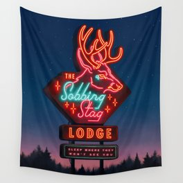 The Sobbing Stag Lodge Wall Tapestry
