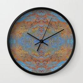 Fall blue geometry Wall Clock