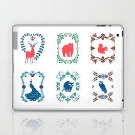 Folk Rainbow Animal Portraits Laptop & iPad Skin