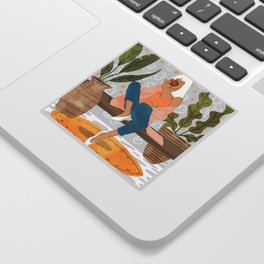Boss Lady #illustration #painting Sticker
