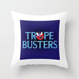 Tropebusters Throw Pillow