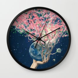 Love Makes The Earth Bloom Wall Clock