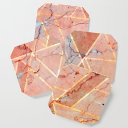 Peachy marble (please forget) Coaster