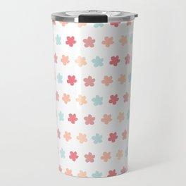 Pastel Flowers Pattern Travel Mug