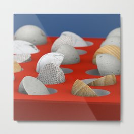 MARBLE - WOOD - CONCRETE - COTTON II Metal Print