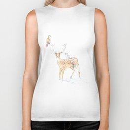 Deer with friends Biker Tank