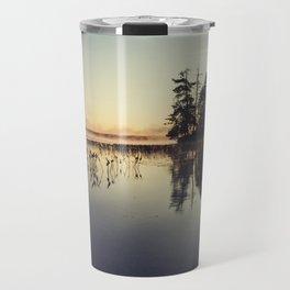 misty sunrise Travel Mug