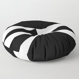 Triangles in Black and White Floor Pillow