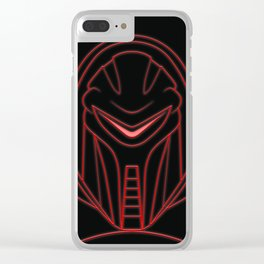 Cylon glow red Clear iPhone Case