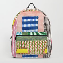 Friendly Pattern Mix On Pink Backpack