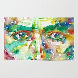 FRANZ KAFKA - watercolor portrait.2 Rug