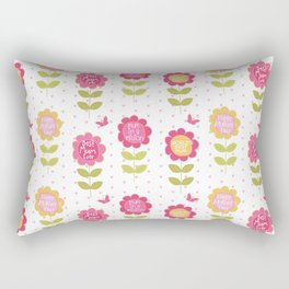 Modern pink orange floral vector best mum typography Rectangular Pillow