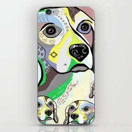 Beagle and Babies Soft Color Palette iPhone Skin
