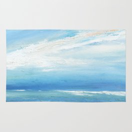 Italianmarinepainter: seascape for my first scarf , landscape , vision of sea, my abstract seascape Rug