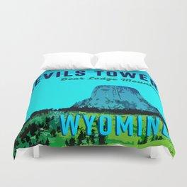 Devils Tower Wyoming Duvet Cover