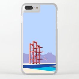 Soviet Modernism: Diving tower in Etchmiadzin, Armenia Clear iPhone Case