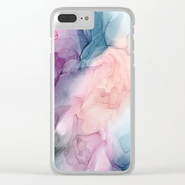 Dark and Pastel Ethereal- Original Fluid Art Painting Clear iPhone Case