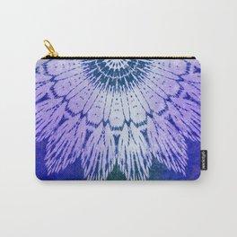tie dye sunflower mandala in blues Carry-All Pouch