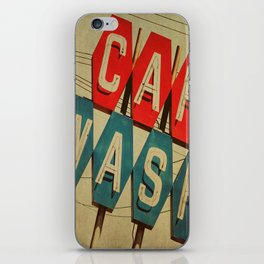 Retro Car Wash Sign iPhone Skin