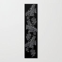 Lace Butterflies Sharkskin Canvas Print